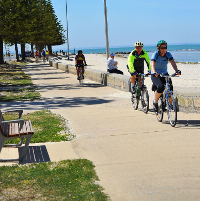 Cyclists, Altona Beach