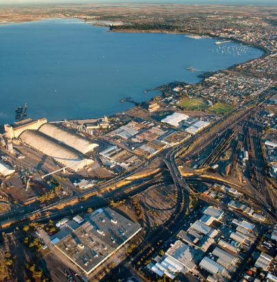 Aerial photo of Geelong